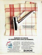 PUBLICITE ADVERTISING 0217  1982  Euromix  robinet mitigeur par Grohe