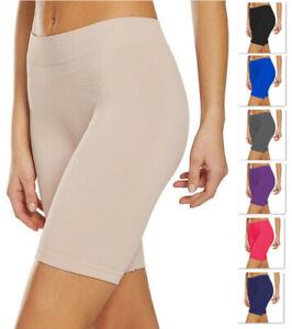 Women's Slip Shorts for Under Dresses, Seamless Bike Short, Underskirt Pant - 50