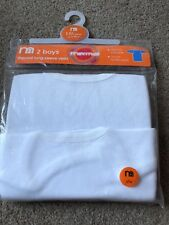 Mothercare Pack Of 2 Boys Long Sleeved Thermal Vests 12-18 Months