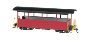 Bachmann-Wood Excursion Car - Ready to Run -- Painted, Unlettered (burgundy, bla