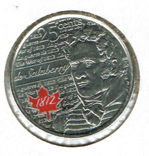 2013 Canadian Colored Uncirculated Commemorative De Salabery 25 Cent coin!