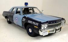 Autoworld 1/18 SCALA amm1023 / 06 1974 DODGE MONACO MASSACHUSETTS POLIZIA DI STATO AUTO