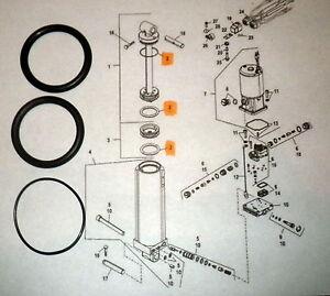 Mariner Mercury Chrysler Outboard Tilt and Trim Cylinder O Ring Kit 809872A 2
