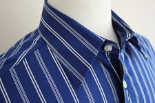 Roundtree & Yorke Mens' Long Sleeve Button Down Dress Shirt size M
