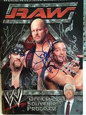 2002 WWE WWF RAW  SIGNED AUTOGRAPHED PROGRAM MATT CAPPOTELLI STEVE AUSTIN
