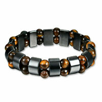 Black&Magnetic Bracelet Hematite Stone Therapy Health Care Weight Loss JewelryRY