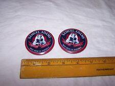 2 Samuel Adams Boston Lager Beer Pinback Button Pin