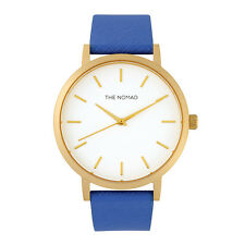 The Nomad Watch Unisex Leather Watch NAVY BLUE