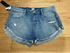 Rip Curl Hi Cut Off Repair Denim Shorts Womens Size 14 100% Cotton New With Tags