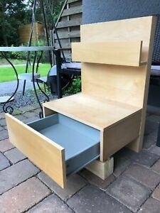 Beiger Ikea Nachttisch zu MALM Bett an Selbstabholer*in in Andernach