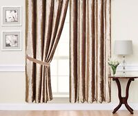 Caravan Curtain Pair of Fully lined Ready Made  Plain heavy crushed velvet sale