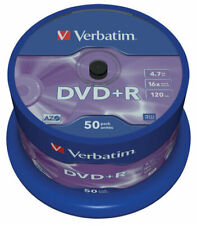 Support de stockage DVD+R 16x Verbatim (43550) Lot de 50