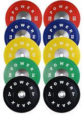 POWER MAXX 150kg Premium Bumper Plate Set // Weightlifting Powerlifting Weights
