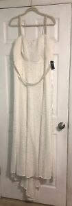 TORRID NWT WEDDING GOWN DRESS SIZE 16 Beaded Empire Waist Lace