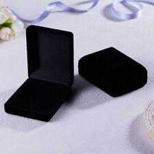 Gift Box Women Black Velvet Jewelry Ring Earring Bracelet Bangle Watch Boxes