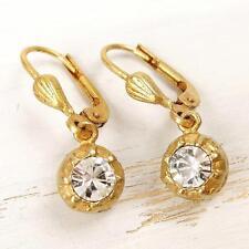 La Vie Parisienne Catherine Popesco Small Clear Swarovski Crystal Ball Earrings