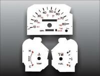 1989-1993 Ford Thunderbird Non Tach Dash Instrument Cluster White Face Gauges 96