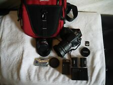 Sony Alpha SLT-A58M Digital SLR Camera Case Two Lens Extras -Wife says sell it