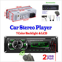 DC12V In-Dash Autos Bluetooth Stereo Audio MP3 Player Support USB MMC SD FM USB