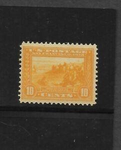 US Scott #400 mint never hinged 10c orange yell 1913 Panama Pacific Expo og f/vf