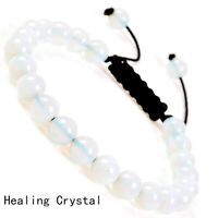 Handmade 8mm natural Healing Crystal gemstone beads adjustable bracelet