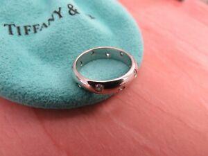 TIFFANY & CO. Etoile Diamond Platinum Ring Wedding Band 0.22 CTW 4.5 I A$5,050