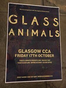 Glass Animals  - Rare Concert / Gig poster, Glasgow - October 2014