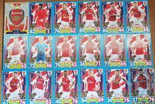 Topps Match Attax Premier League 2017/18 Arsenal complete team set 18 cards