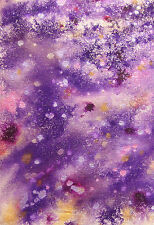 PURPLE/PINK ABSTRACT #2 - ORIGINAL PAINTING CANVAS MIXED MEDIA - STUDIO ANGELA