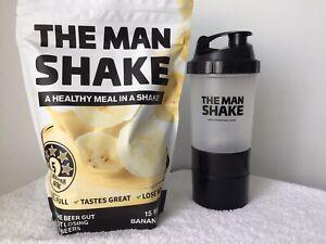 The Man Shake 840g Meal Replace Banana WeightLoss Shake + Shaker Free Express