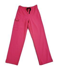 Wonderwink Women's Cargo Drawstring Bootcut Scrub Pants Bright Pink 5025 Size S