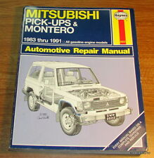 HAYNES Mitsubishi Pick-up and Montero 1983-1991 AUTOMOTIVE REPAIR MANUAL