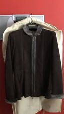 """Women's Maximilian 27"""" Shearling Jacket, stand collar, Leather trim, size 24"""