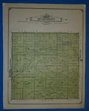 1914 Plat Map ~ HUMPHREY Twp. PLATTE Co. NEBRASKA Land Genealogy Ancestry