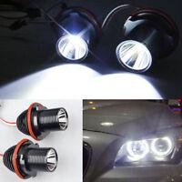 2x 80W For BMW E39 E60 M5 E63 E65 X3 Angel Eyes LED Halo Ring Light 6000k White