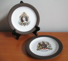 Hornsea Silver Jubilee Plate x 2 Queen Elizabeth Commemorative 1977 Coat of Arms