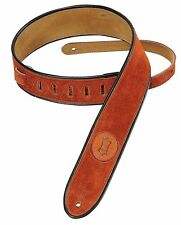 Levy's Leathers Suede Leather Guitar Strap,Copper, MSS3-2-CPR