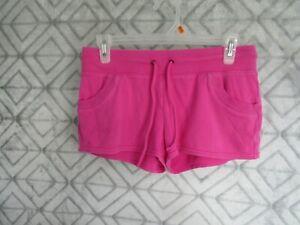 OP Shorts Size M 7 9 Juniors Pink Wide Elastic Waistband Drawstring Pockets