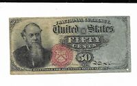 50 Cents United States Currency Fractional 4th Issue Fr.1376 Very Fine Note #1