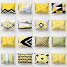 JU_ BH_ Geometric Wave Circle Plaid Pillow Case Cushion Cover Sofa Bed Car Dec