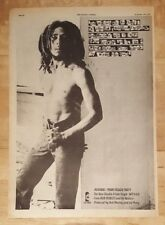 Bob Marley Jamming punky reggae  1977 press advert Full page 28 x 39 cm poster
