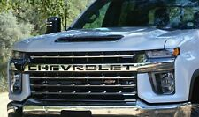 2020 Silverado 2500 / 3500 Custom front grille letter inserts CHEVROLET Black