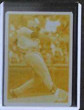 2009 Topps Series 2 Baseball Yellow Printing Plate #520 Adrian Gonzalez No 1 of