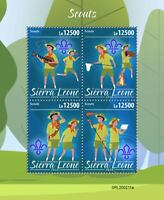 Sierra Leone Scouting Stamps 2020 MNH Girl Boy Scouts 4v M/S