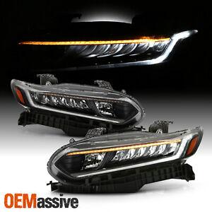 Fits 2018-2021 Honda Accord 4-Door Sedan Full LED OE Pair Headlights - Black
