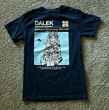 Rare Dr Who Haynes Dalek owners manual t-shirt youth S
