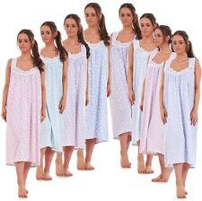 df7b4b8e23 Ladies Nightwear Floral Print 100% Cotton Sleeveless Long Nightdress M to  XXXL