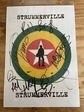 More details for strummerville autographed flyer / bunting. the clash. billy bragg. damien hirst
