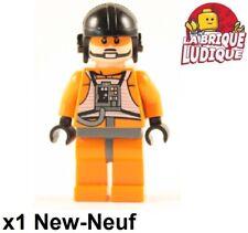 Lego Figura Minifig Star Wars Zev Senesca Piloto Naranja (Otro Casco ) Nuevo