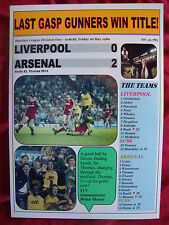 Liverpool 0 Arsenal 2 - 1989 title decider - souvenir print